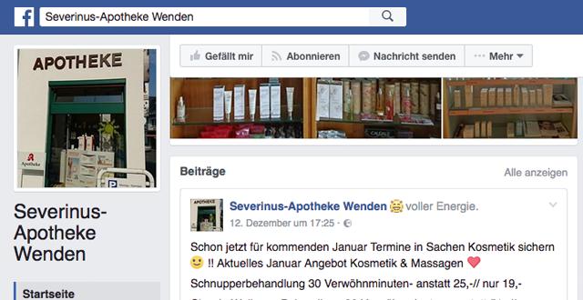 Facebook Apotheke Severinus Wenden
